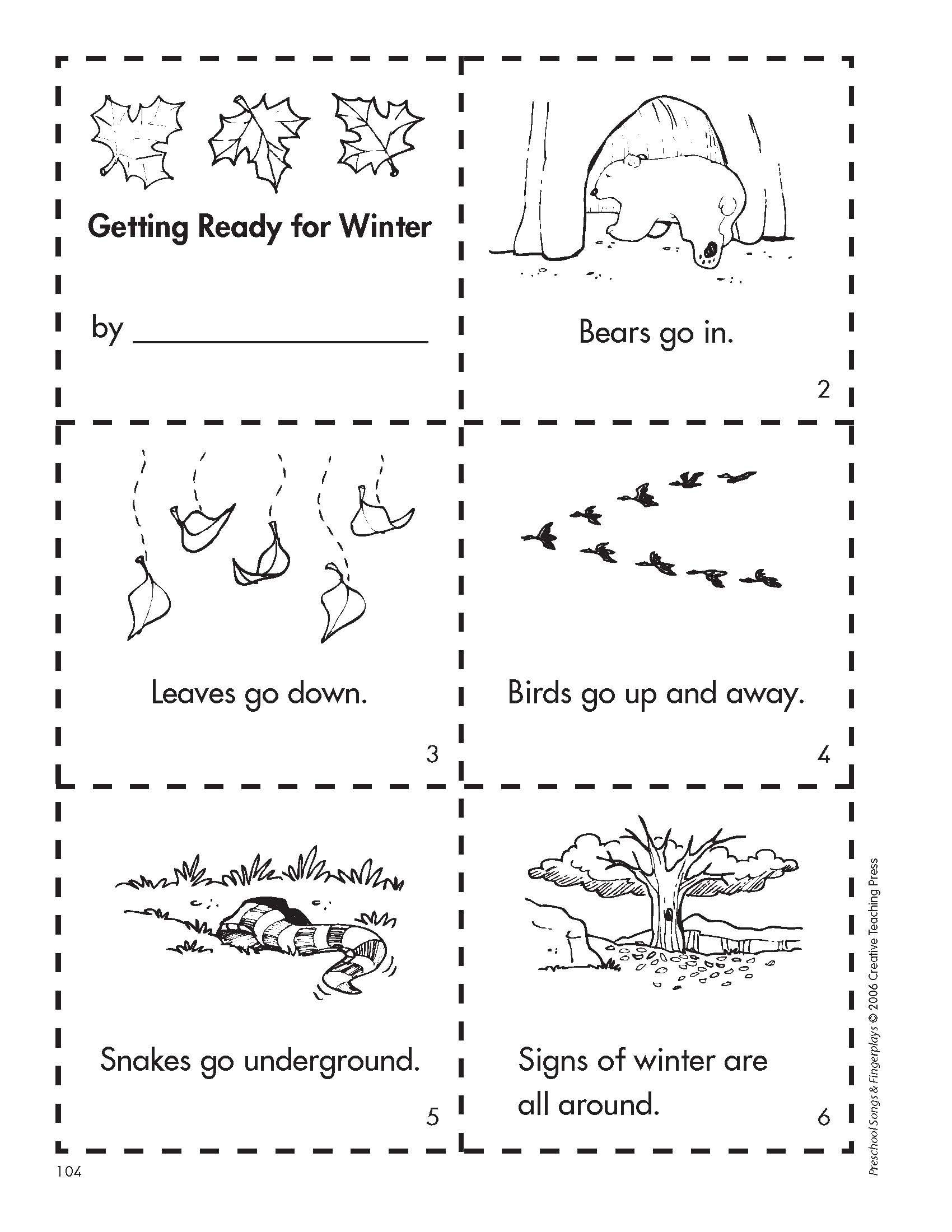 Free Printable Hibernation Worksheets
