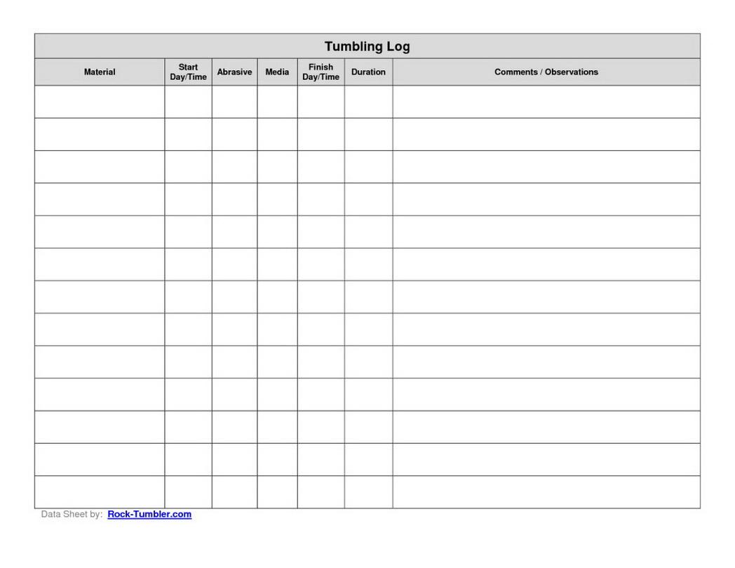 Free Printable Data Sheets