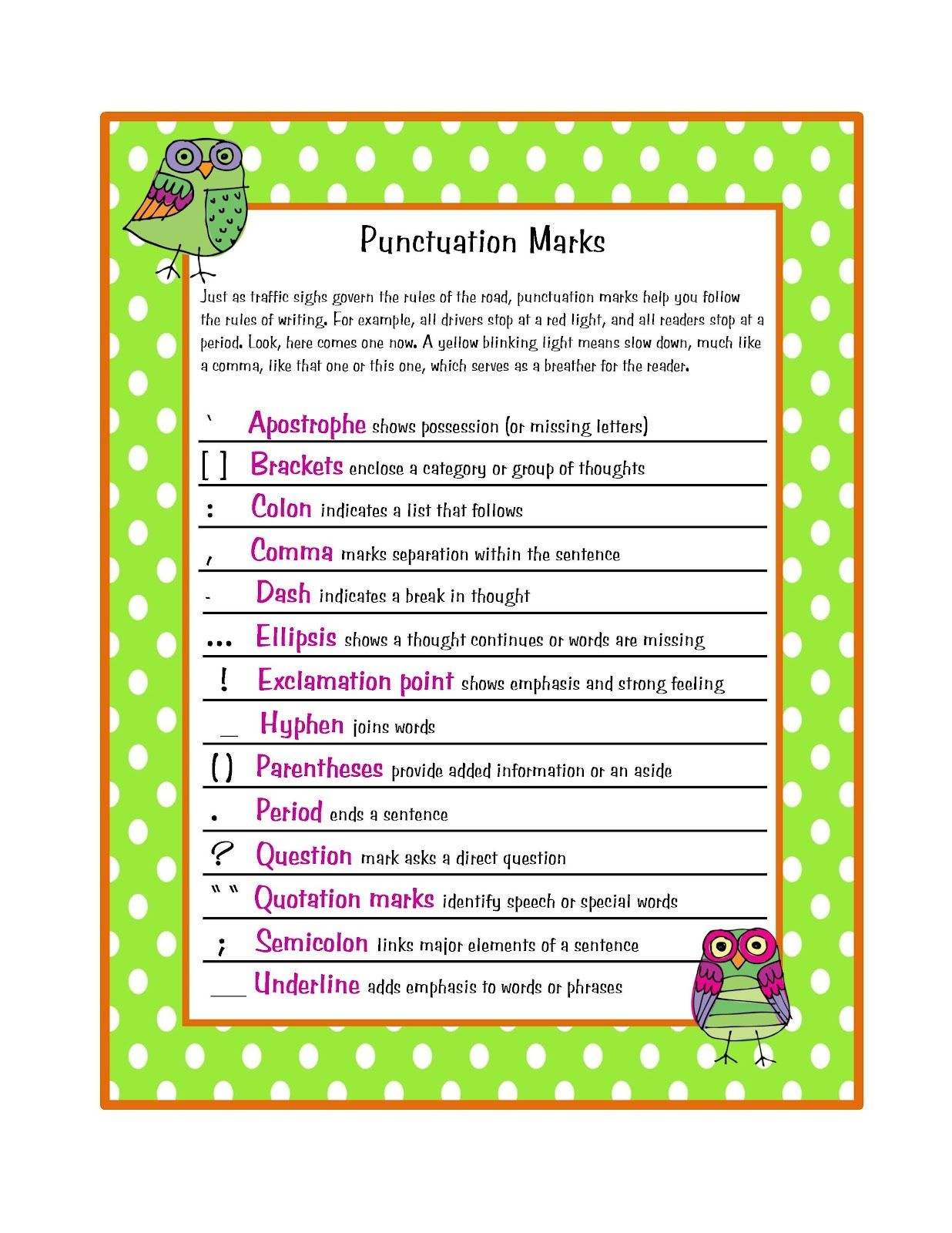 Preschool Printables Free Parts Of Speech Amp Punctuation