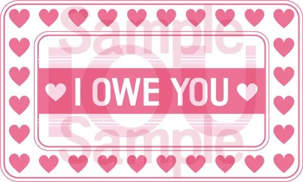 Printable IOU Template For Valentines Day And Anniversaries