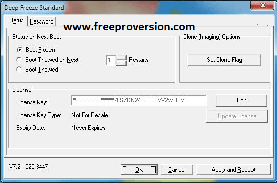 Deep Freeze Standard 8.62 Crack + License Key Free Download