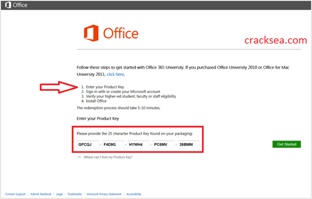 Microsoft Office 365 Home Crack + License Key Free Download ,