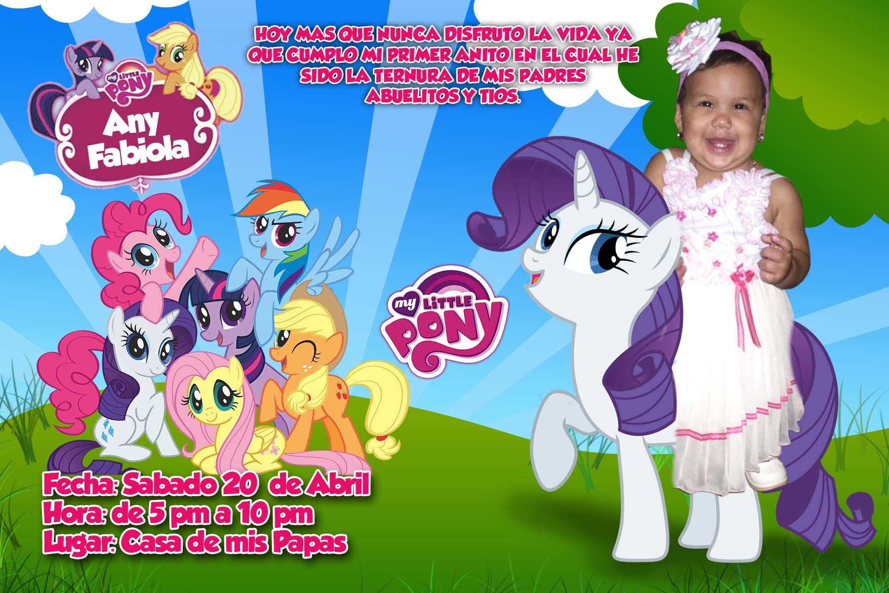 Plantilla PSD Tarjeta de Invitación My Little Pony