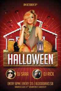 halloween party poster photoshop