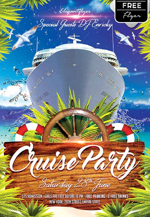 Download The Cruise Party Free Flyer Template FreePSDFlyer