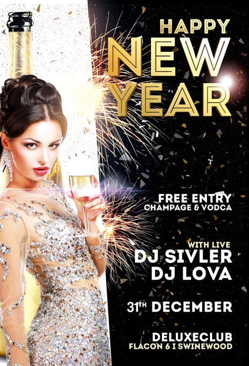 happy new year poster maker online