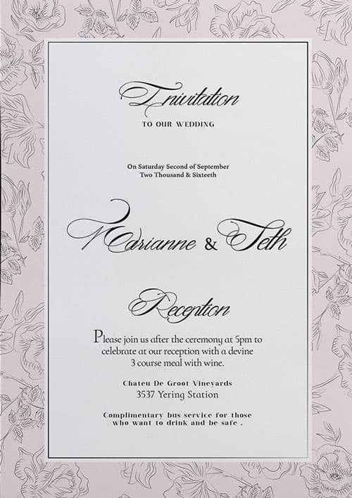 Free Wedding Invitation Flyer Template For Photo