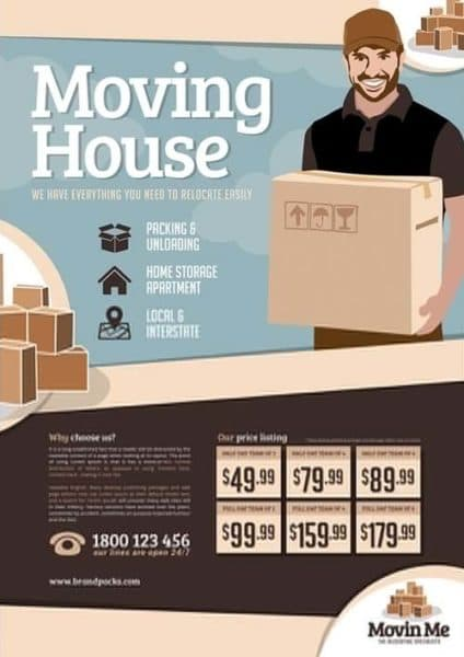 House Moving Company Free Poster Template Download Free