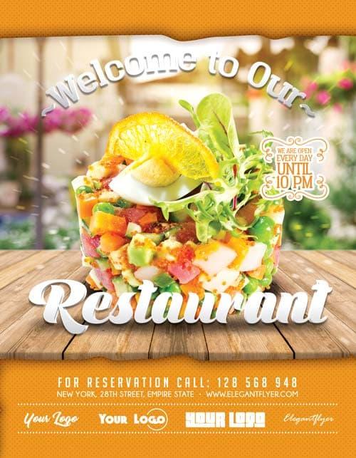 FreePSDFlyer Free Restaurant Flyer Template Download