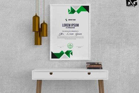 Free Download Eco Friendly Nature Certificate PSD Template   PSD     Free Download Eco Friendly Nature Certificate PSD Template