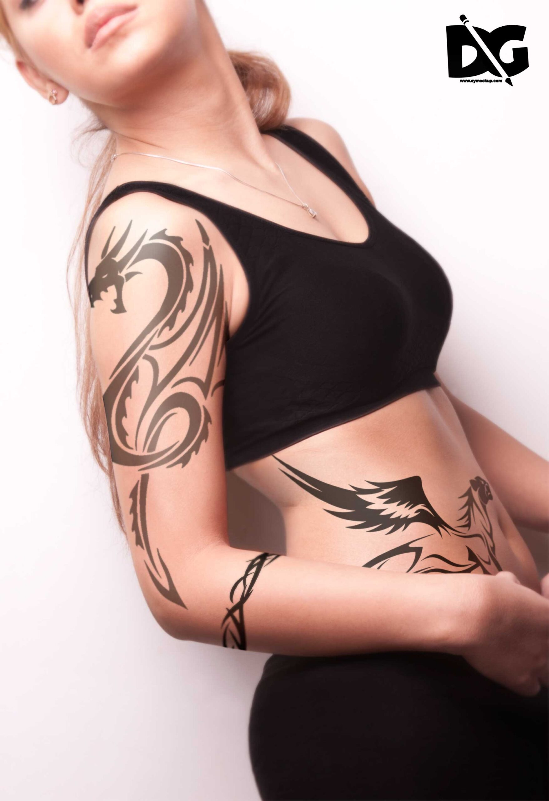 If you're looking for a tattoo design that will inspire you, it's important to make your research process personal. Free Download Women Right Side View Tattoo Psd Mockup Free Psd Freebies Mockup