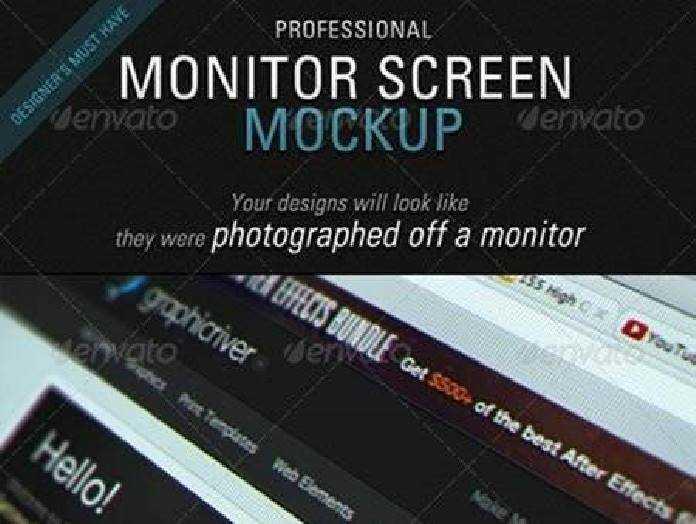 1702136 Monitor Screen Mockup 8 Realistic Effects 2408135 Freepsdvn