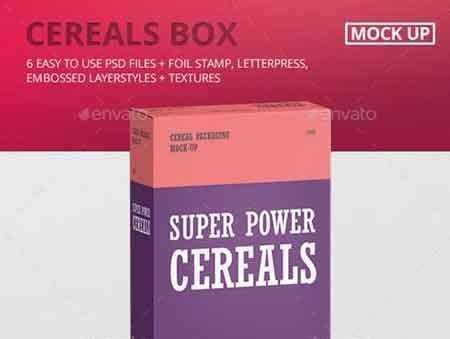 Download 1705283 Cereals Box Mockup 20259461 - FreePSDvn