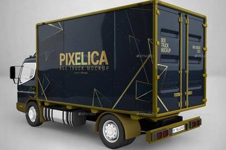 Download Box Truck Mockup 23680434 - FreePSDvn