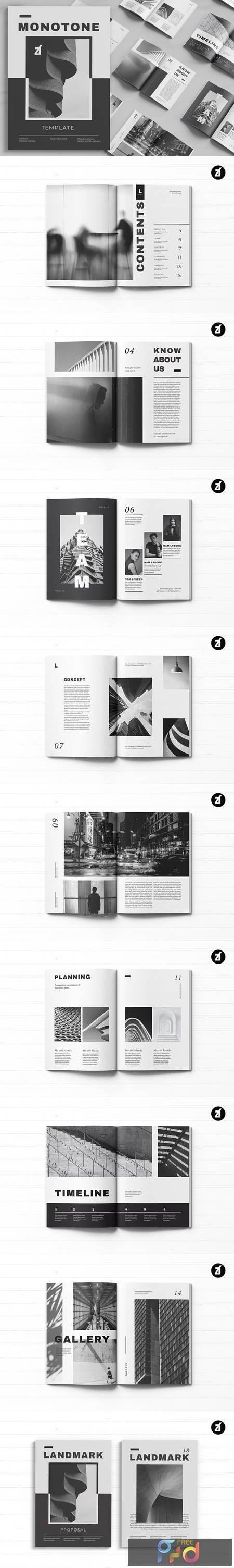 Download Monotone magazine multi-purpose book 5243100 - FreePSDvn