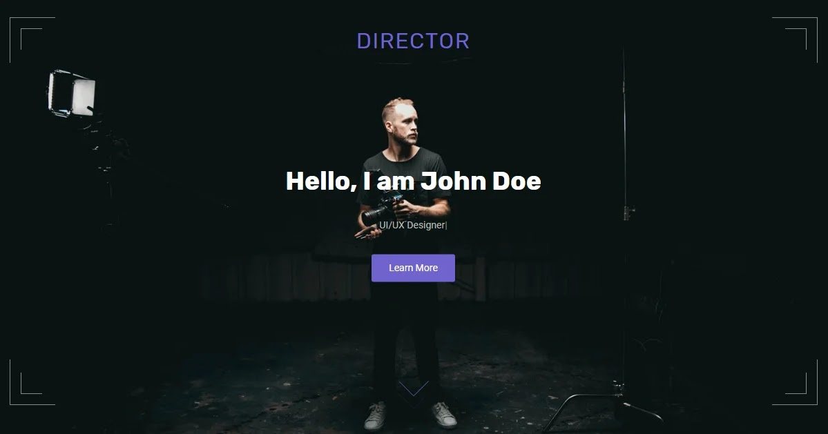 Director Blogger Template • Portfolio Blogspot Templates 2020