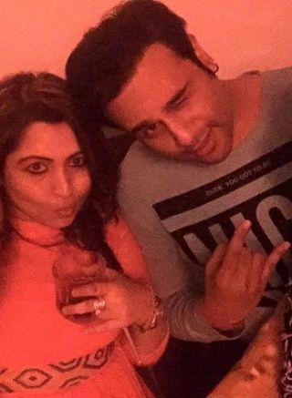 Mishti Mukerjee With Krushna Abhishek