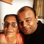 Nishant Tanwar with his mother