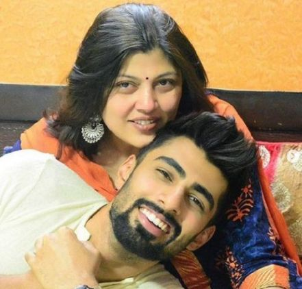 Mridul Madhok With His Mother