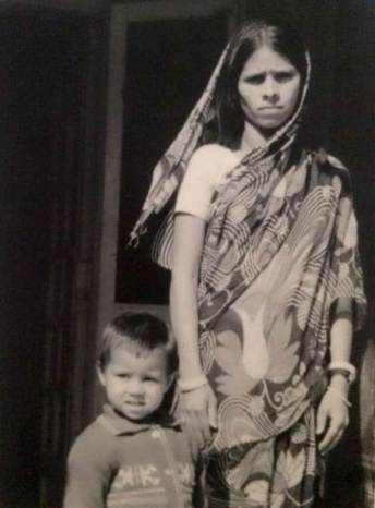 Misa Bharti with her mother in 1978