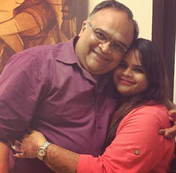 Vidyu with her father