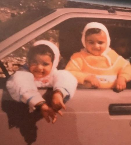 A Childhood Picture of Sukirti Kandpal and her Sister