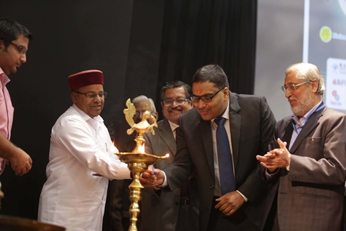 Dr. Jitendra Aggarwal lighting the lamp before the National Conference on Disability