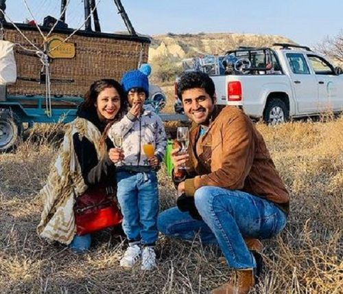 Yash Sinha with his Wife and Son