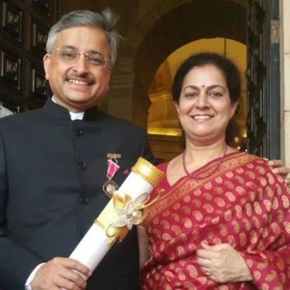 Dr Guleria with his wife Kiran Guleria