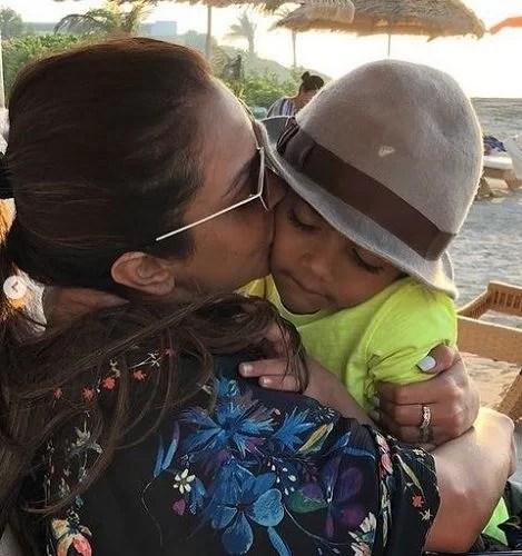 Seema Khan with Yohan