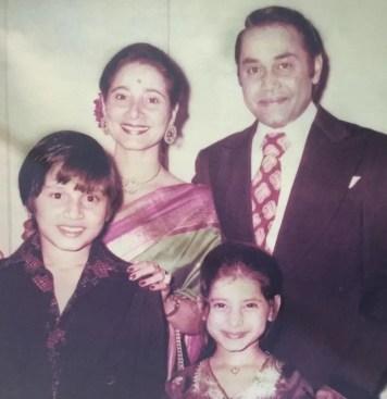 Neelam Kothari in childhood