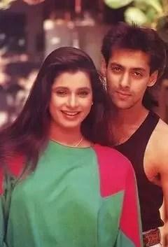 Neelam Kothari with Salman Khan