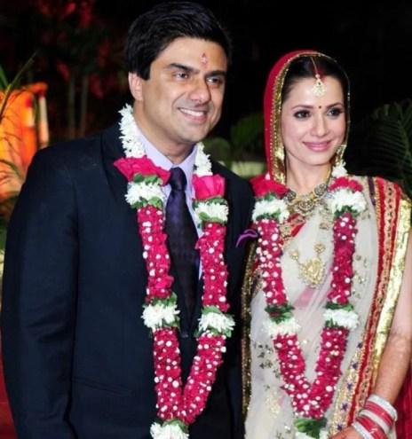Neelam Kothari's wedding picture