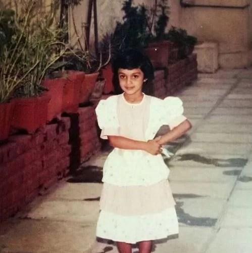 A Childhood Picture of Mayuri Deshmukh