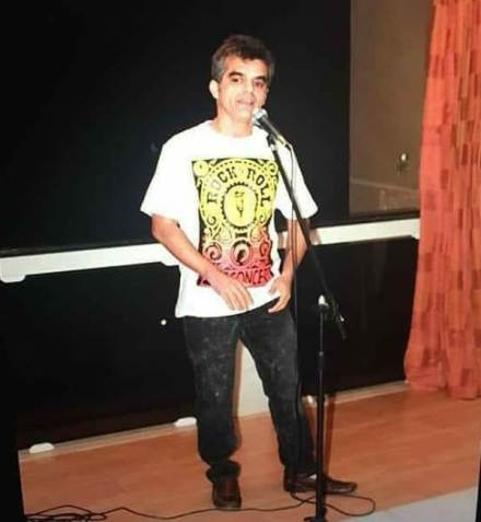 Atul Khatri at his first open mic in 2012