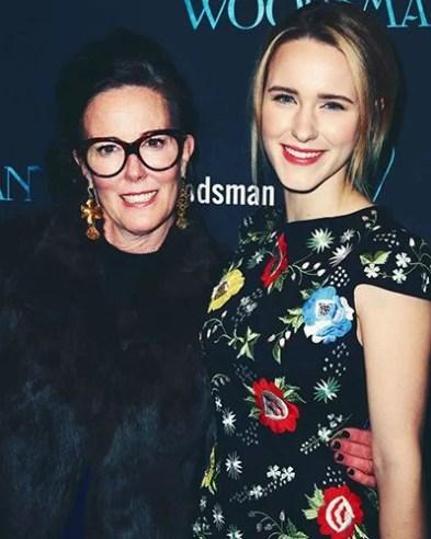 Rachel Brosnahan with her Aunt