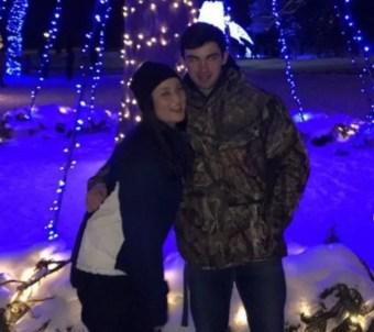 Jenna Clause with her boyfriend