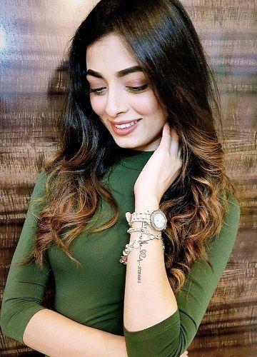 Afreen Alvi's Tattoo on Left Arm