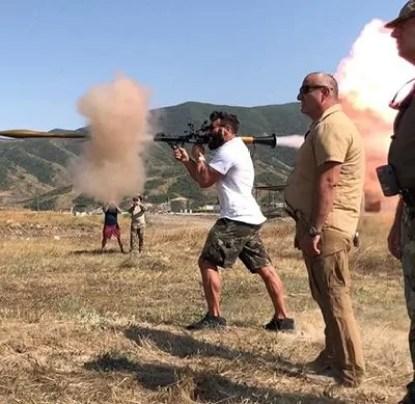 Dan Bilzerian Firing in Nagorno-Karabakh Region