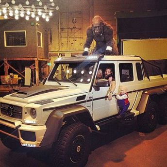 Dan Bilzerian in his 1970 Toyota Land Cruiser