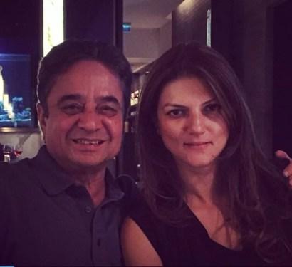 Nandita Mahtani with her father