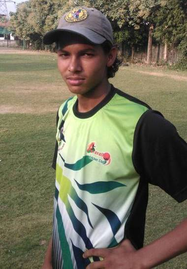Akash Singh at Aravali Cricket Club in 2017
