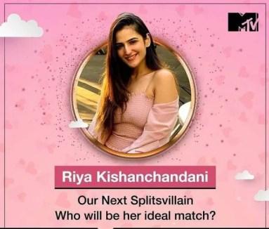 Riya Kishanchandani as a contestant of Splitsvilla 13