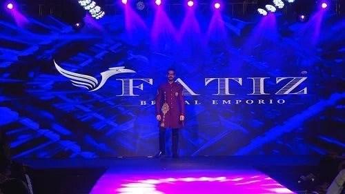 Karan Veer Mehra walking the ramp in a fashion show