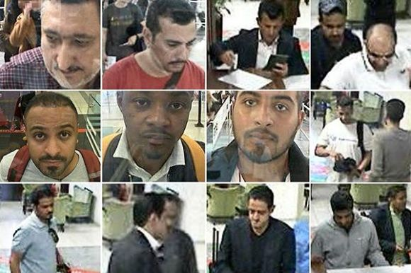 A collage of alleged perpetrators in the murder of Jamal Khashoggi