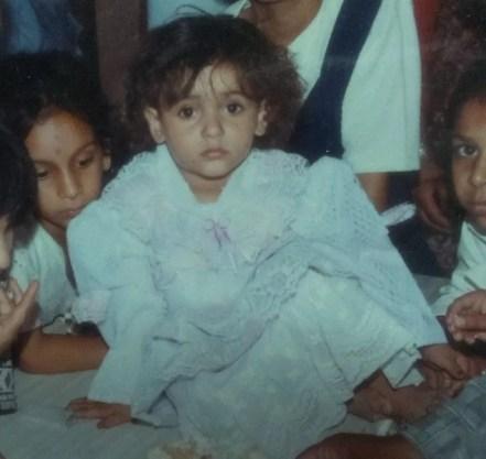 A childhood picture of Mukti Gautam