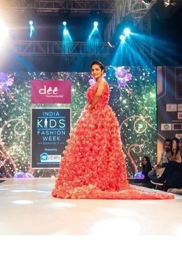 Vaishnavi Gowda in a fashion show