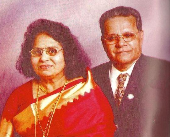 Maju Varghese's parents