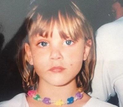 Nora Arnezeder as a child