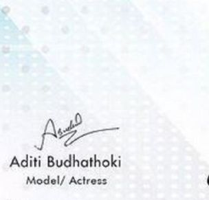 Aditi Budhathoki's signature